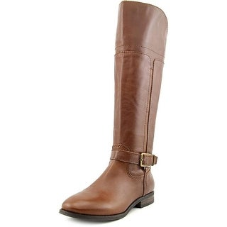 Marc Fisher Womens Aysha Leather Round Toe Knee High Riding Boots