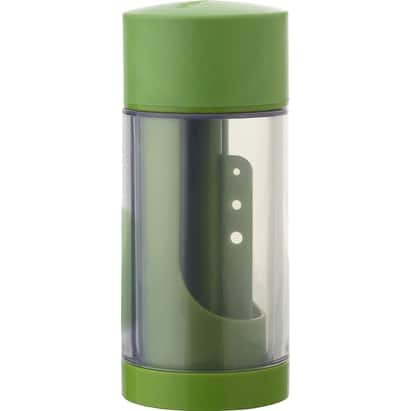 Microplane 48716 2-In-1 Herb Mill With Herb Stripper, Green