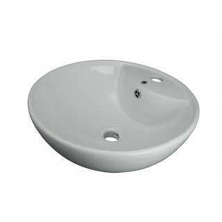 Above Counter Vessel Bathroom Sink White China Faucet Hole | Renovator's Supply