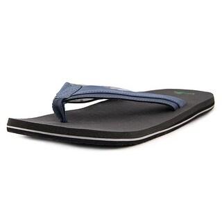 Sanuk Beer Cozy Light Men  Open Toe Synthetic Blue Flip Flop Sandal