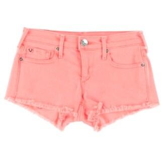 True Religion Womens Juniors Colored Flat Front Cutoff Shorts - 25