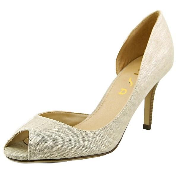 Unisa Jubilee 5 Women Peep-Toe Canvas White Heels