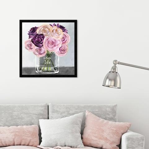 Oliver Gal 'La Bella Vita' Floral and Botanical Framed Wall Art Prints Florals - Pink, Purple