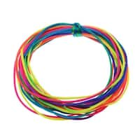 Rayon Satin Rattail 1mm Cord - Knot & Braid - Neon Rainbow (6 Yards)