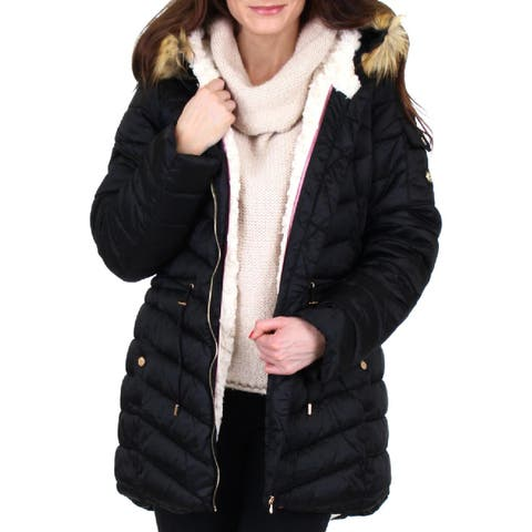 Jessica Simpson Womens Puffer Coat Water Resistant Quilted