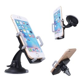 Skiva 3-in-1 Universal Smartphone Mount Air Vent Dashboard Mount Windshield Mount for iPhone 7 7+ 6 6s Plus, Samsung Galaxy S7