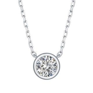 Smiling Rocks 0 27Ct G H VS1 Lab Grown Diamond Bezel Set Solitaire Necklace