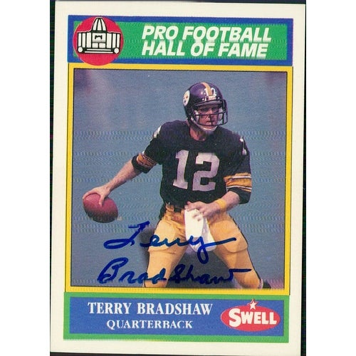 29d11eb969c Shop Signed Bradshaw Terry Pittsburgh Steelers 1990 Swell Football Card  autographed - Free Shipping On Orders Over  45 - Overstock - 17692805