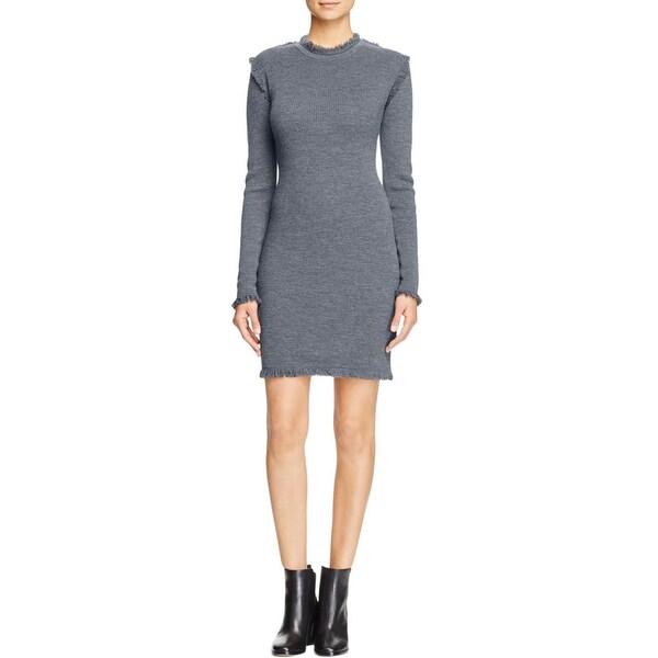 b8c397d24811 Shop MICHAEL Michael Kors Womens Sweaterdress Merino Wool Fringe ...