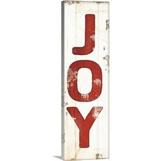 """Joy Christmas"" Canvas Wall Art"