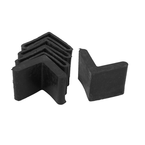 Rubber Triangle Furniture Leg Foot Protection Pad 30mmx30mm 5Pcs Black