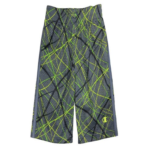 Champion Little Boys' Fast Break Athletic Mesh Shorts- Size 5/6 (Grey)