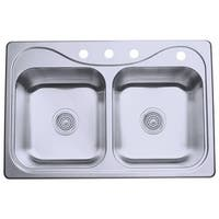 "Sterling 11400-4 Southhaven 33"" Double Basin Drop In Stainless Steel Kitchen Sink with SilentShield®"