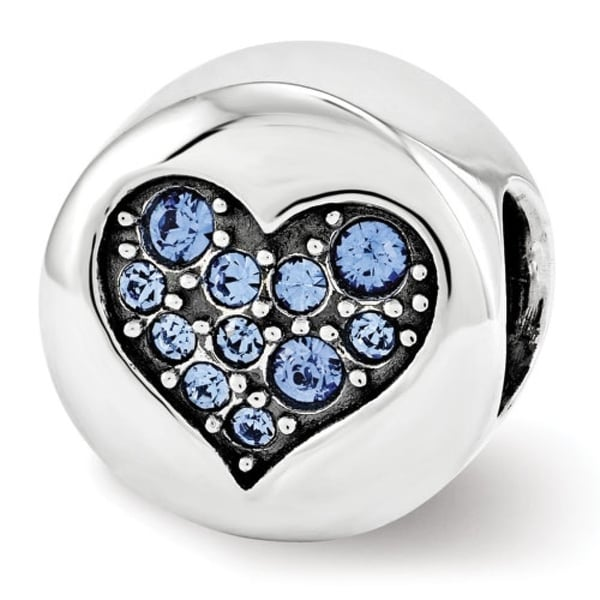 Sterling Silver Reflections Swarovski Elements Sep-Wisdom Bead (4mm Diameter Hole)