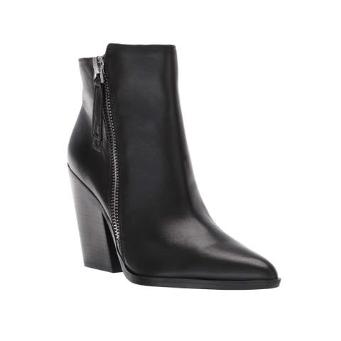 Naturalizer Women's Leather Rooney Zip Boot Black