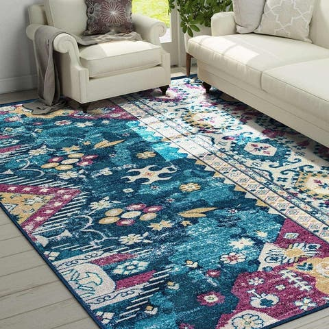 "Bohemian Rug Vintage for Living Room, Bedroom ,Dinner Room Area Rugs - 5'54"" x 9'"