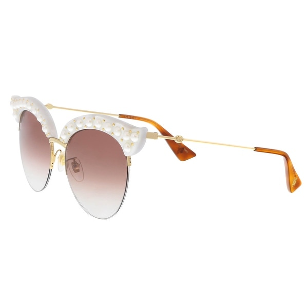 b2df6bba8ec Gucci GG0212S 003 Winter White Winter White Cat Eye Sunglasses - 53-18-140