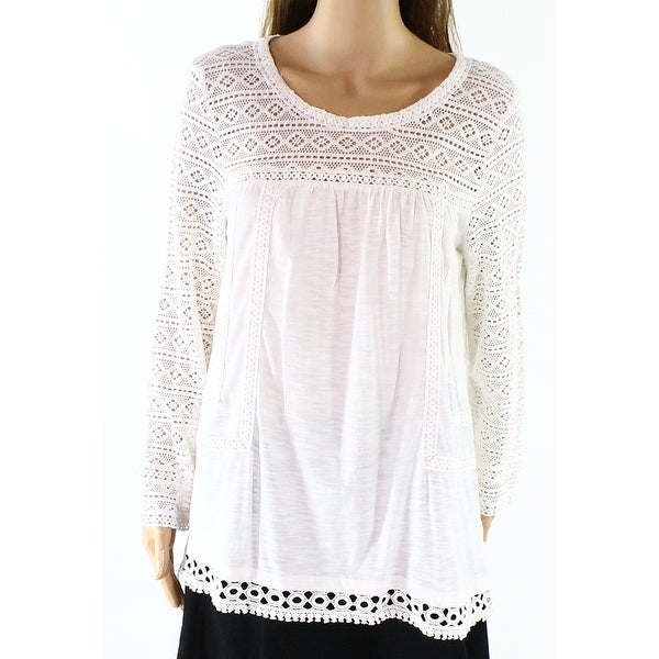 7ed3813c810 Shop Vintage America NEW White Womens Size Large L Crochet Peasant Blouse -  Free Shipping On Orders Over  45 - Overstock - 18305265
