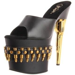 Pleaser Womens Bondgirl Faux Leather Slides Platform Sandals - 5 medium (b,m)