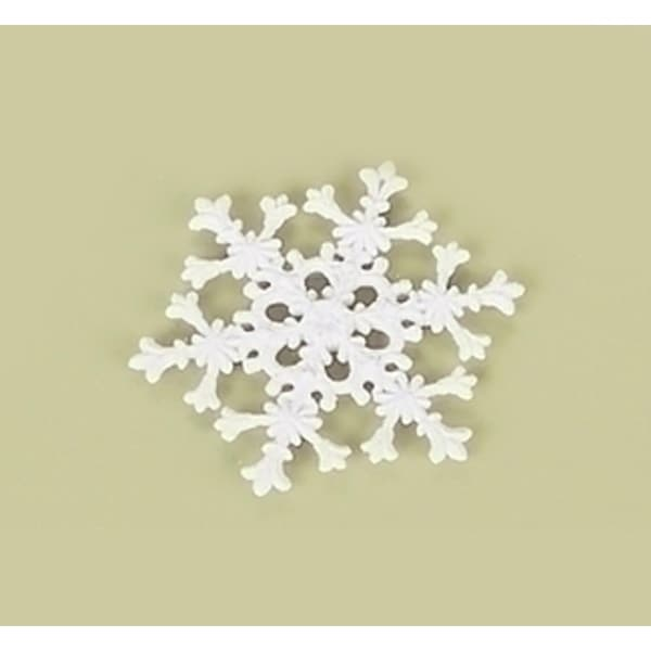 "4.5"" Tell a Story White Iridescent Glitter Snowflake Christmas Ornament"