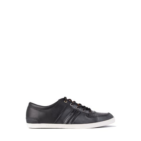 UGG Mens Leather Black Brook-in Lace Up Low Top Sneakers Size US10.5~RTL$140