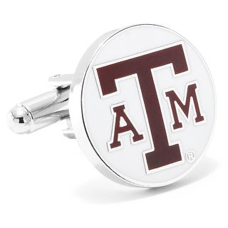 Silver Plated Texas A and M University Aggies Cufflinks