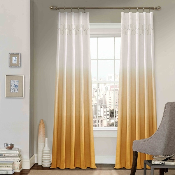 Vue Signature Arashi Ombre Embroidery Curtain Panel. Opens flyout.