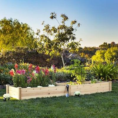 SUNCROWN 8-foot Wooden Garden Bed Planter Box