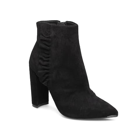 Ted Baker Women's Suede Leather Frillis Bootie Black