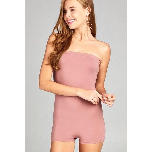 901f6f841e2 Ladies Fashion Strapless Bodycon Tube Cotton Spandex Romper - Size - M
