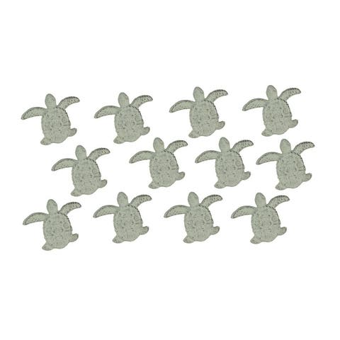 Cast Iron Sea Turtle Handle Drawer Pull Cabinet Knob Beach Decor Set of 12 - 2.5 X 3 X 1 inches