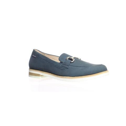 Mephisto Womens Roxana Navy Bucksoft Loafers Size 10