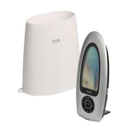Taylor 2755 Wireless Digital Rain Gauge & Rf Outdoor Thermometer, White