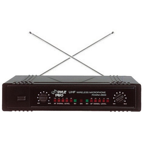 Pyle Pro Dual 2 Channel VHF Wireless Microphone system 1 Mic and 1 Headset