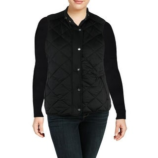 Ralph Lauren Womens Plus Casual Vest Fall Quilted