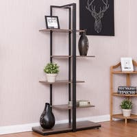 Costway Bookcase 60'' Modern Open Concept Display Etagere Display Shelf Bookshelf Tower