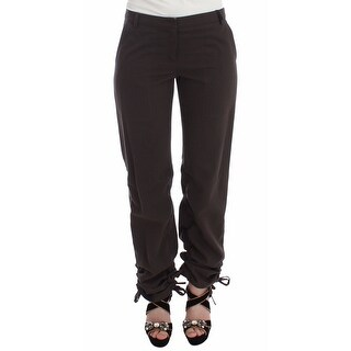 Ermanno Scervino Ermanno Scervino Brown Chinos Casual Dress Pants Khakis - it38-xs