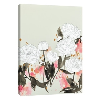 """PTM Images 9-105412  PTM Canvas Collection 10"""" x 8"""" - """"Alabaster Garden 2"""" Giclee Flowers Art Print on Canvas"""
