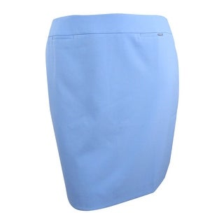 Tahari Women's Petite Welt-Pocket Pencil Skirt - French Blue