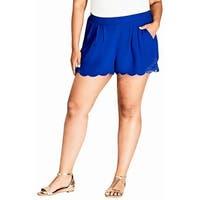 City Chic Women's Large Crochet Lace Scalloped Shorts