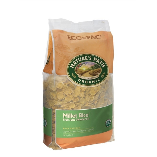 Nature's Path Organic Millet Rice Oat-bran Flakes Cereal - Case of 6 - 32 oz.