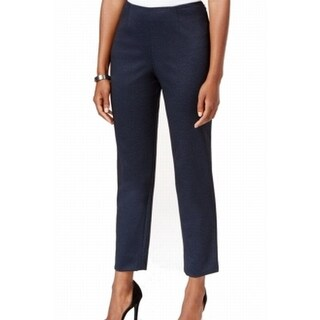 Tommy Hilfiger NEW Denim Blue Women's Size 14 Ponte Ankle Leg Pants