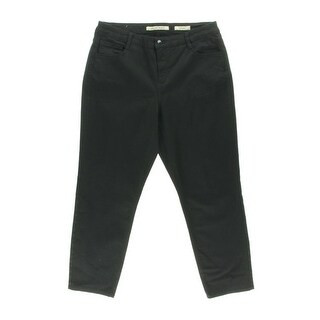 Jones New York Womens Plus Soho Stretch Tummy Slimming Ankle Jeans