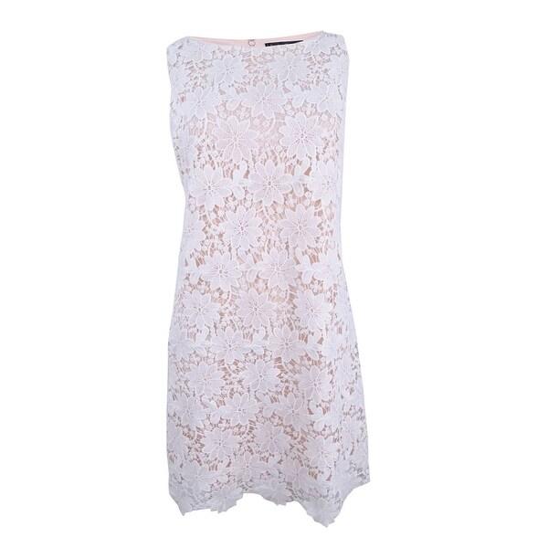 Jessica Howard Women's Lace Overlay Dress - White