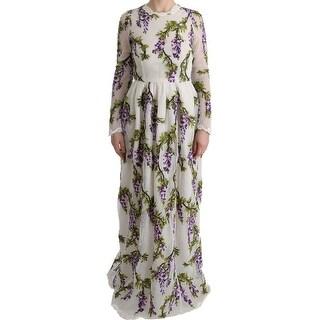Dolce & Gabbana Dolce & Gabbana White Floral Embroidered Maxi Dress - it40-s