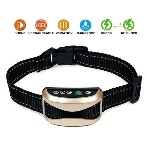 Dog Bark Collar Barking Control Training Collar with Beep Vibration and No Harm Shock