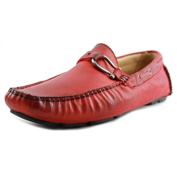 Bacco Bucci Palm Beach Men Moc Toe Leather Red Loafer