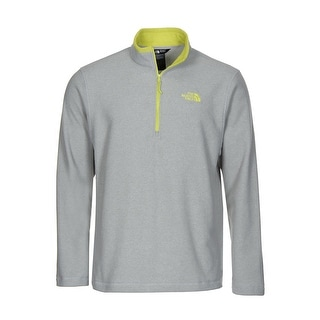 The North Face 100 Glacier 1/4 Zip Fleece Sweatshirt Light Grey XX-Large