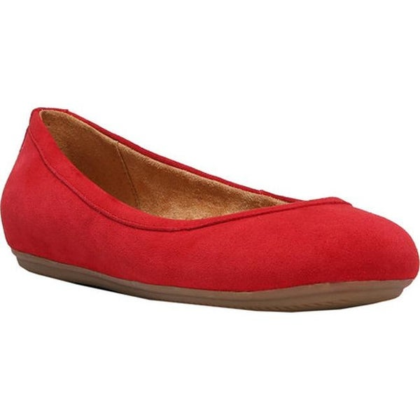 dec2218b58a Shop Naturalizer Women s Brittany Ballet Flat Hot Sauce Suede ...