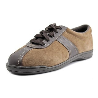 Easy Spirit On Cue Women W Round Toe Canvas Brown Sneakers
